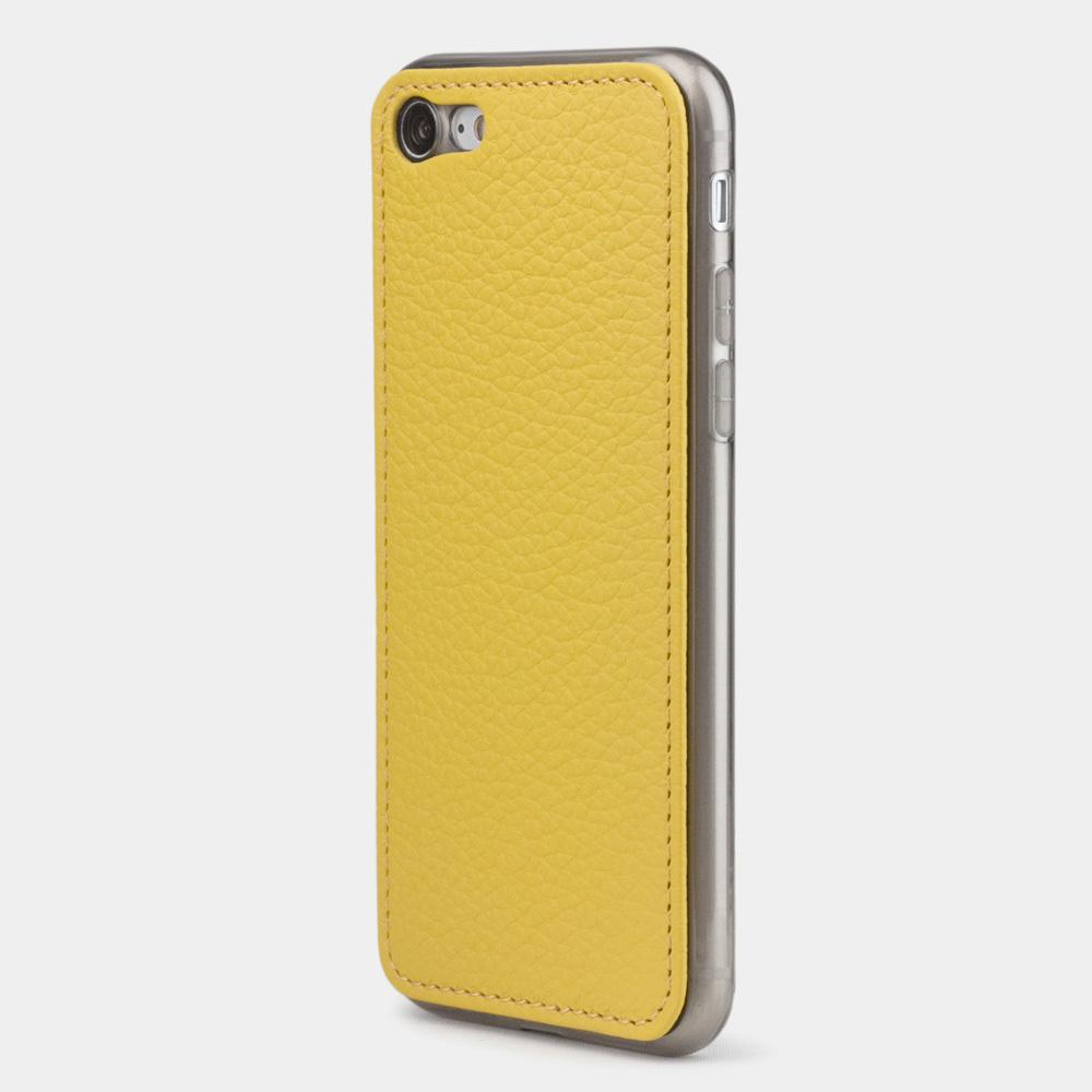 Чехол-накладка для iPhone SE/8 из натуральной кожи теленка, желтого цвета
