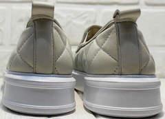 Летние кеды женские туфли без каблука Alpino 21YA-Y2859 Cream.