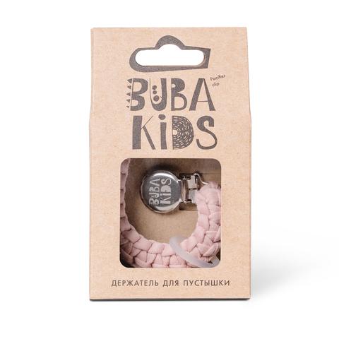 Прищепка-держатель для соски текстильный BUBA Kids Кремово-розовый