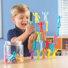 Развивающая игрушка Фигурки Разноцветные строители (32 элемента) Learning Resources