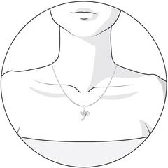 Подвеска love из серебра «Амур»