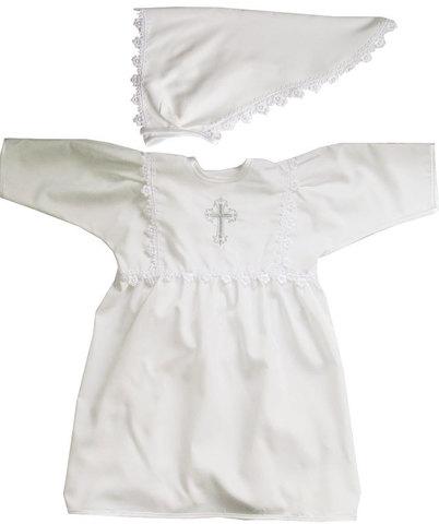 Папитто. Крестильное платье для девочки с косынкой