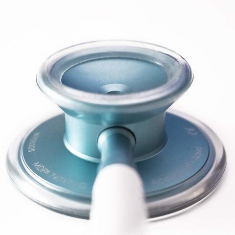 Облегченный стетоскоп Acoustica Deluxe (белый/аквамарин)