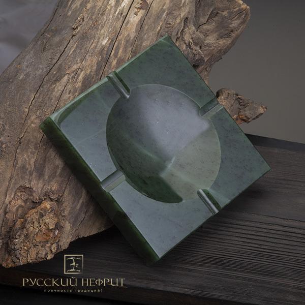 Пепельницы из нефрита Пепельница из зеленого нефрита. Пепельница.jpg