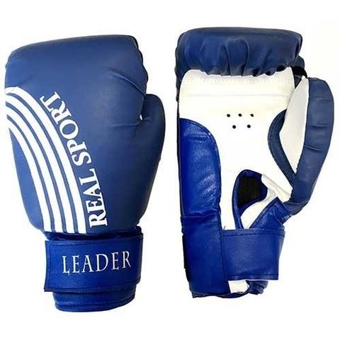Перчатки  боксерские REALSPORT  8 унций, синий (ЕвСп) (к 33581 8 унц син)
