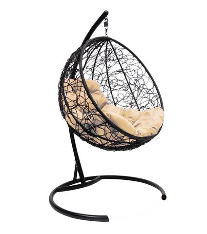 Кресло подвесное Milagro black/beige