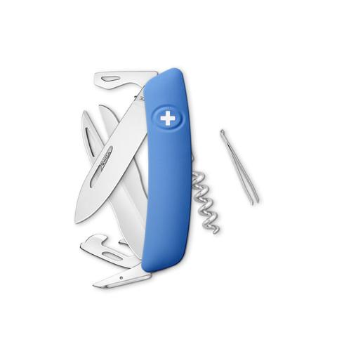 Швейцарский нож SWIZA D07 Standard, 95 мм, 12 функций, синий