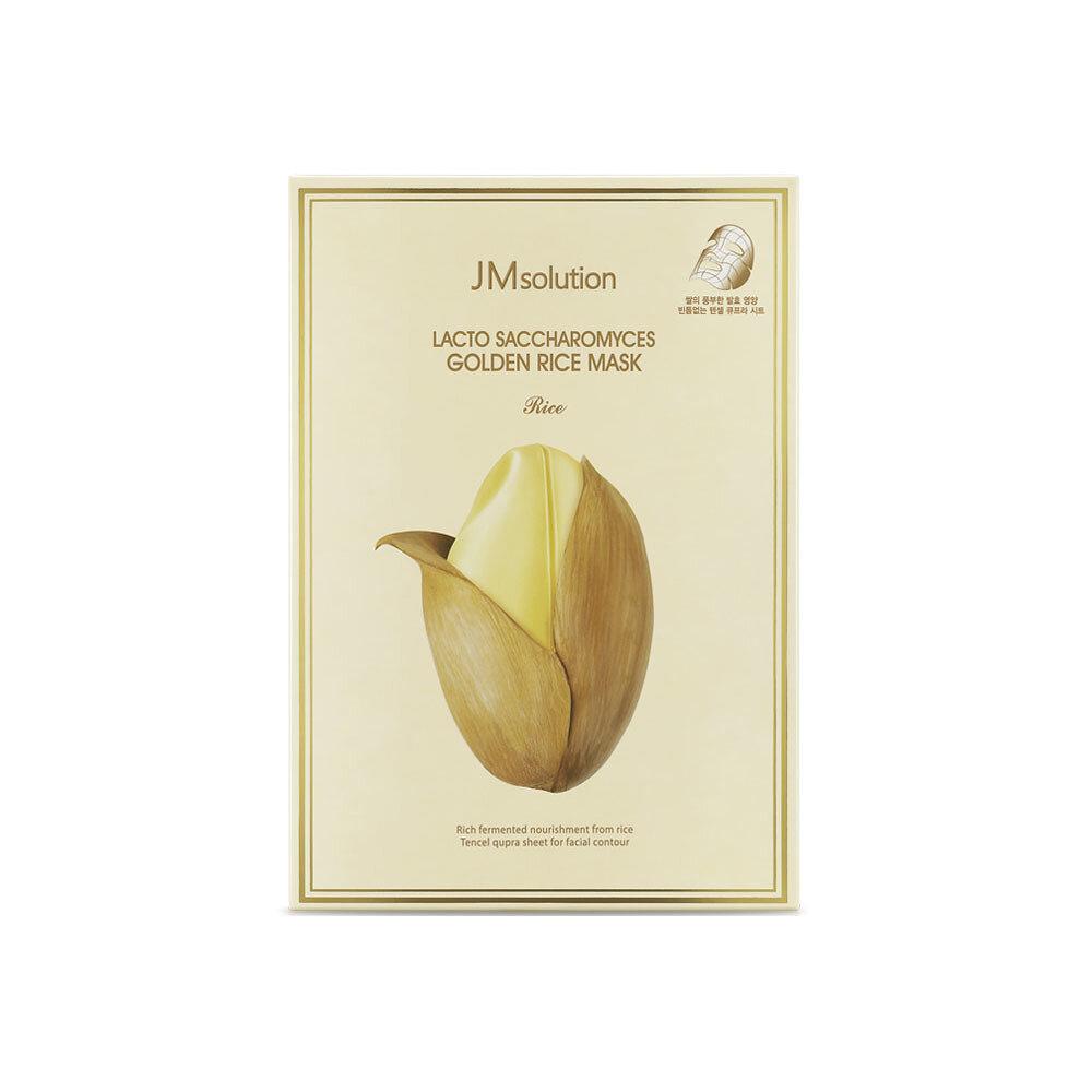 Набор масок для лица лактобактериями, золотом и экстрактом риса LACTO SACCHAROMYCES GOLDEN RICE MASK RICE