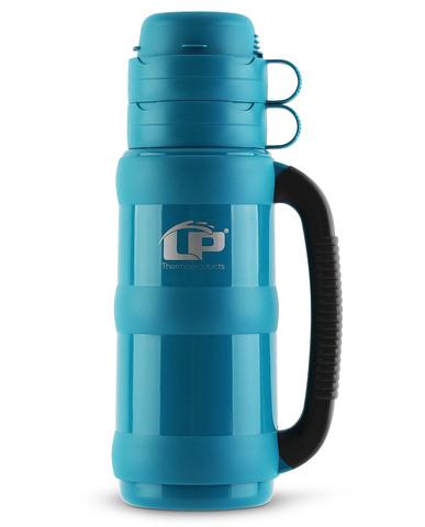 Термос LP Traditional со стеклянной колбой (1 литра), аквамарин