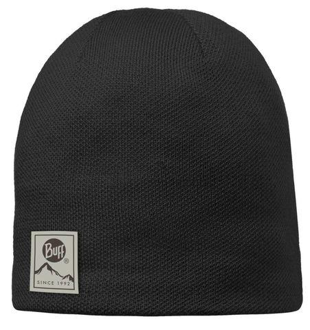 Вязаная шапочка Buff Solid Black фото 1