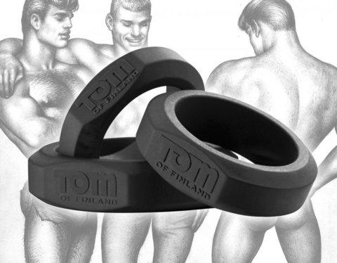 Эрекционные кольца Tom of Finland - 3 шт. разного диаметра