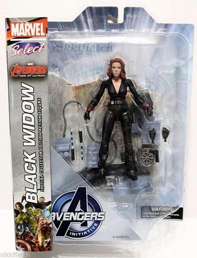 Марвел Селект фигурка Мстители 2 Черная вдова — Marvel Select Avengers 2 Black Widow