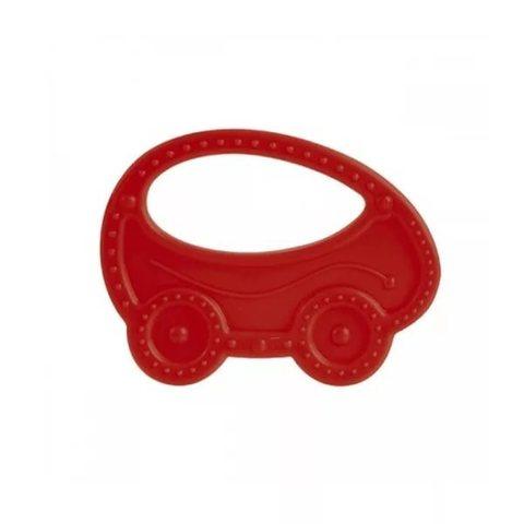 Прорезыватель мягкий, 0+, 3 вида (13/118) (красный, форма: машинка)