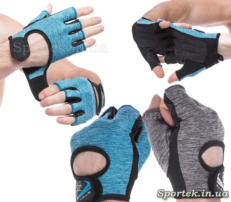 Перчатки HARD TOCH c відкритими пальцями, розміри XS-L (FG-008)