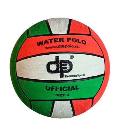 НОВИНКА!!! Тренировочный ватерпольный мяч DIAPOLO Official Ball W4- Red-White-Green Размер 4 для женщин/юниоров арт.B-DPI4-080305