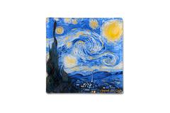 Тарелка квадратная Звездная ночь (Ван Гог) без инд.упаковки Carmani