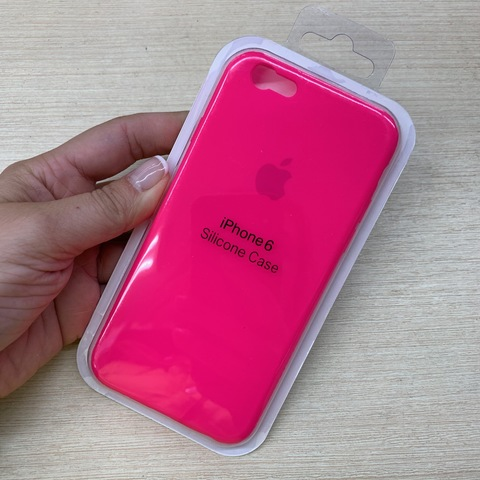 Чехол iPhone 6S Silicone Slim Case /electric pink/