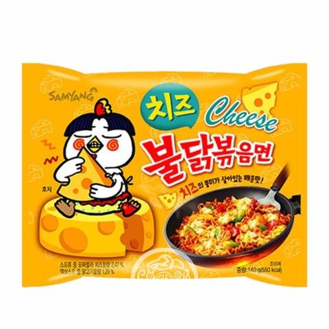 Лапша б/п Hot chiken рамён со вкусом курицы и сыра острая 140г SAMYANG Южная Корея