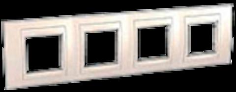 Рамка на 4 поста. Цвет Бежевый. Schneider electric Unica Хамелеон. MGU6.008.25