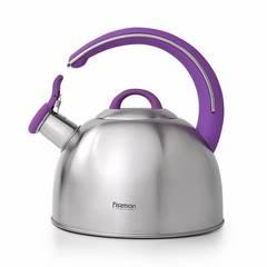 5951 FISSMAN Чайник со свистком для кипячения воды EMILY 2,6л (нерж.сталь)