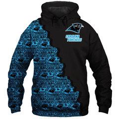 Толстовка утепленная 3D принт,НФЛ Каролина Пэнтерс (3Д Теплые Худи NFL Carolina Panthers) 03