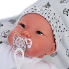 Munecas Antonio Juan Кукла-младенец Reborn Джулио в сером 52см (8164)