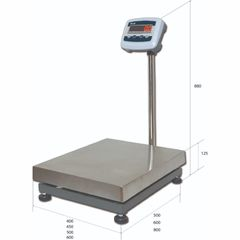 Весы товарные напольные MAS ProMAS PM1E-300 5060, RS232 (опция), 300кг, 50/100гр, 500*600, с поверкой, съемная стойка
