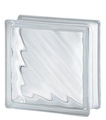 Стеклоблок бесцветный диагональная волна Vitrablok 19х19х8 купить не дорого