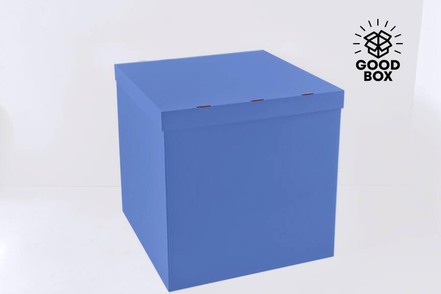 Голубая коробка для шаров заказать в Алматы с доставкой