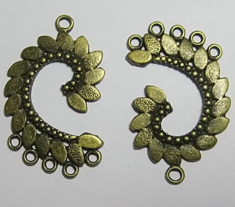 "Коннектор ""Завиток"" (1-5) 40х25 мм (цвет - античная бронза)"