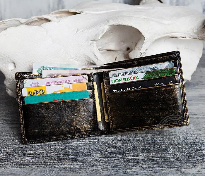 WL293-2 Крутой мужской кошелек золотистого цвета с драконом фото 07
