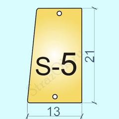 Купить пришивные зеркала и стекла оптом Light Gold S-5