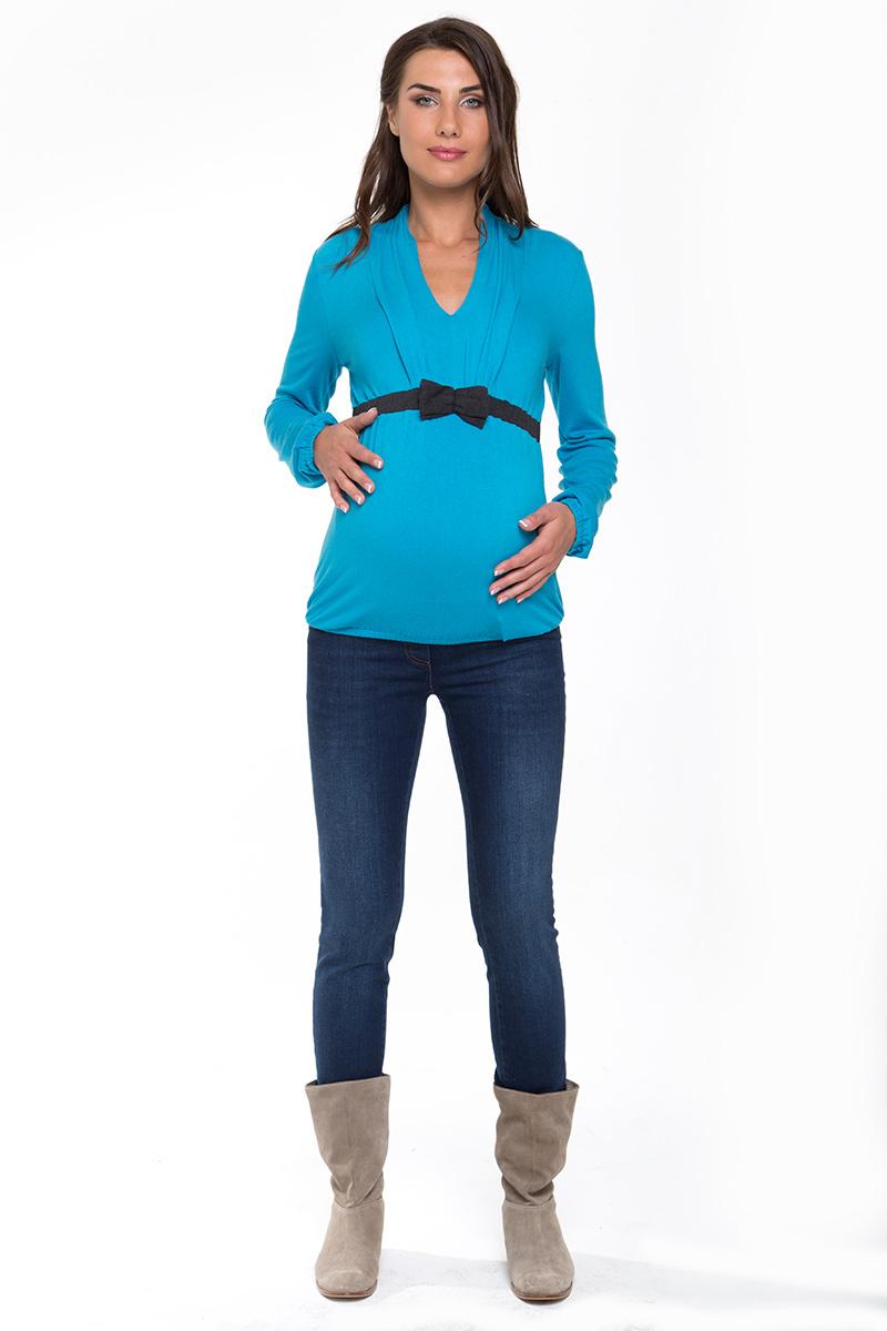 Блузка для беременных 01729 синий