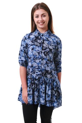 Рубашка штапель огурцы
