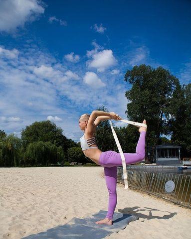 Ремень с силовой пряжкой 210 х 4см для йоги
