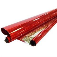Рулон пленка Голография Красная, 70 см*7,1 м, 40 мкр