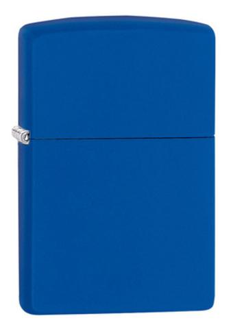 Зажигалка Zippo Classic с покрытием Royal Blue Matte, латунь/сталь, синяя, матовая, 36x12x56 мм