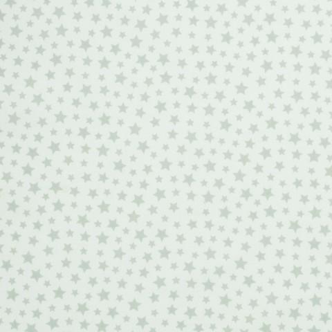 Ткань хлопковая серые звезды на сером, отрез 50*80 см