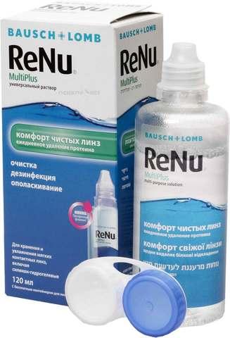 Растворы Bausch+Lomb ReNu MultiPlus+контейнер 120 мл