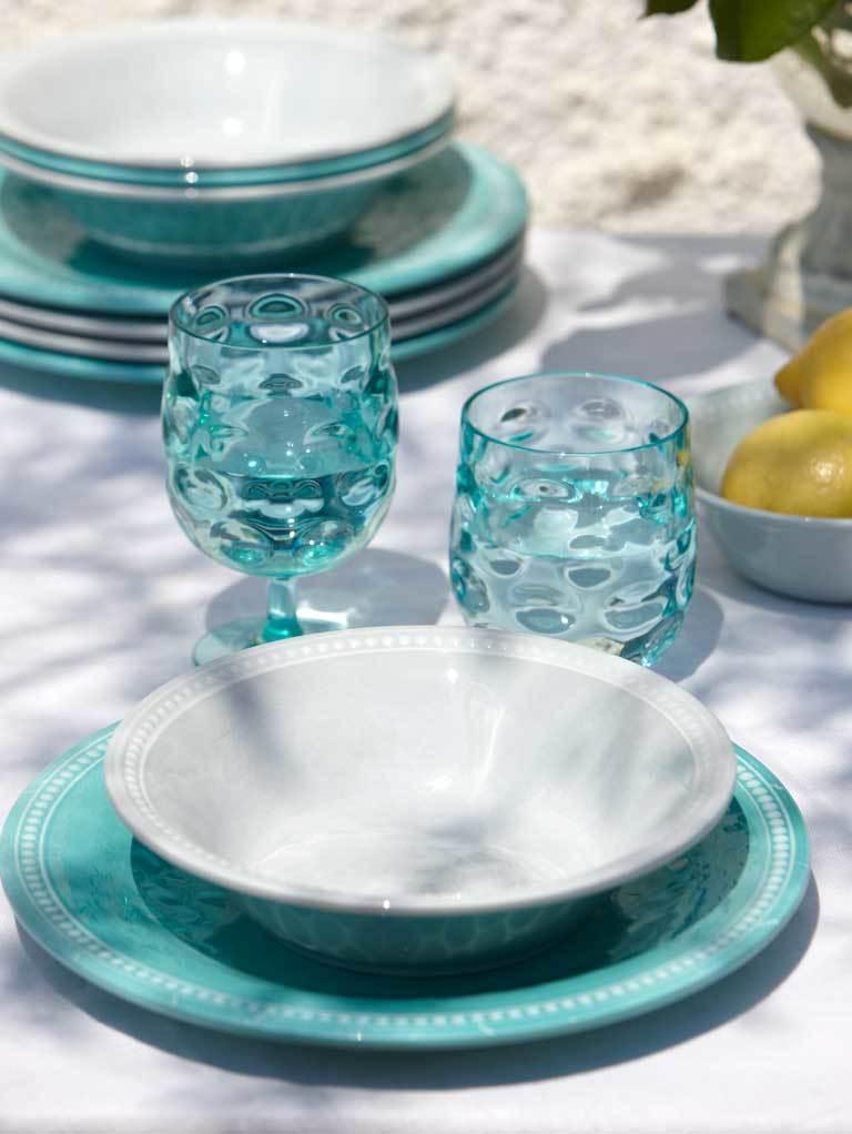 MELAMINE DINNER PLATE HARMONY – ACQUA