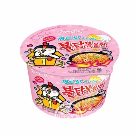 Лапша б/п Hot chiken рамён со вкусом курицы и соуса карбонара острая 105г SAMYANG Южная Корея