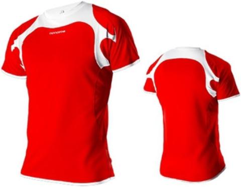 Женская беговая футболка Noname Running 2012 red-white