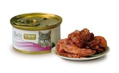 Консервы для кошек, Brit Care, с тунцом с лососем