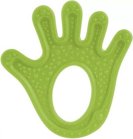 Прорезыватель мягкий, 0+, 3 вида (13/118) (зеленый, форма: ладошка)