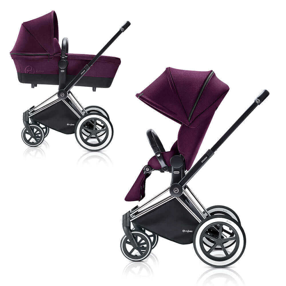 Цвета Cybex Priam 2 в 1 Детская коляска Cybex Priam Lux 2 в 1 Mystic Pink  шасси Chrome/All Terrain cybex-priam-mystic-pink-all-terrain.jpg