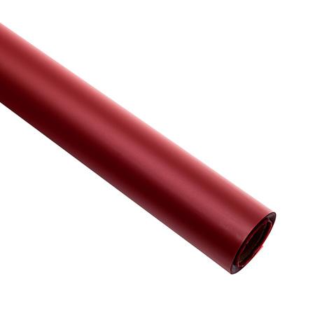 Пленка матовая 60 см на 10 м, цвет: бордовый