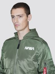 Бомбер Alpha Industries L-2B Hooded NASA II Sage Green (Зеленый)