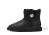 UGG BAILEY BUTTON MINI BLING METALLIC BLACK