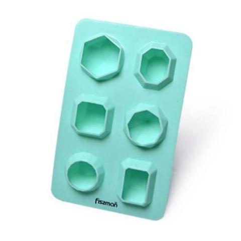 "6567 FISSMAN Форма для льда и шоколада ""Геометрия"" 6 яч./ 16,5x10,5x3 см, силикон,  купить"