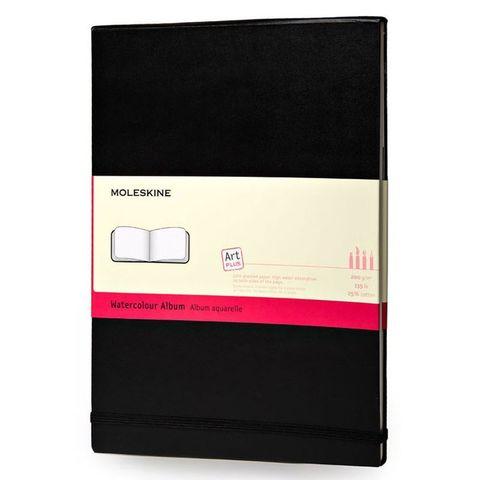 Блокнот для акварели Moleskine CLASSIC WATERCOLOUR ARTMM804 130х210мм 72стр. твердая обложка черный